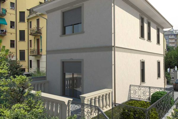 Arcolinea - Ristrutturazione villa Milano - render