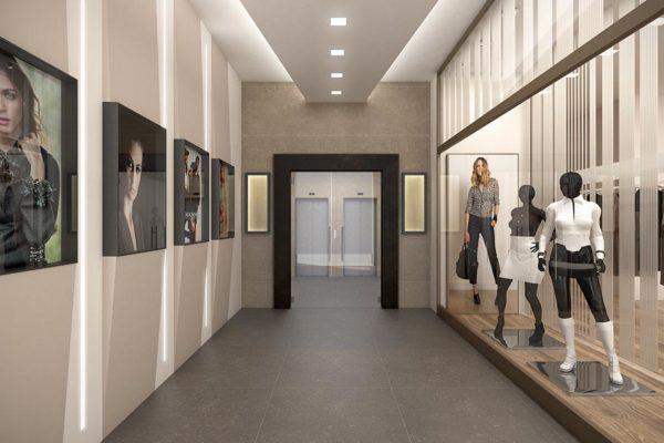 Arcolinea - Ristrutturazione ingresso Milano - Render