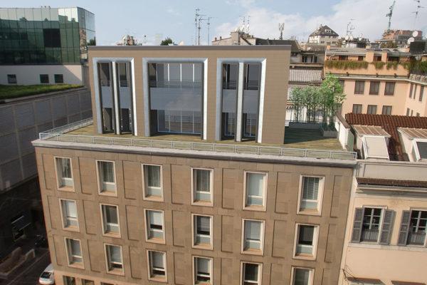 Sopralzo uffici - Via Manzoni Milano - Render